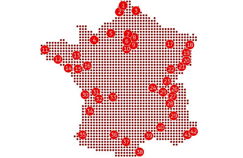 Centres équipés France
